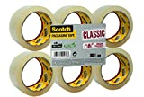 Scotch - CL5066FT - Flatpack de 6 Rouleaux Ruban Polypropylène Classic - 50 mmx 66 m - Couleur Transparent