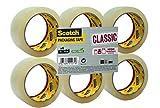 Scotch Nastro da Imballo 3M Packaging Tape Classic/Nastro Adesivo per Traslochi e Spedizioni, Confezione da 6 Rotoli, Avana, 50mm x 66m