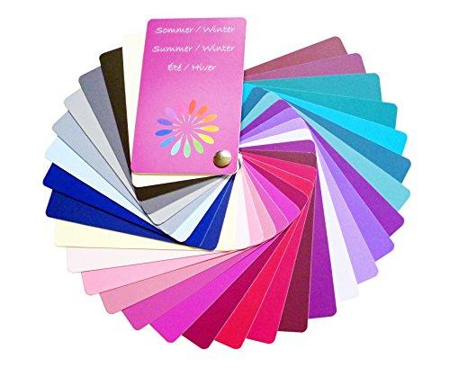 farbkarte sommertyp Farbpass Sommer/Winter Mischtyp (Cool Summer/Winter) als Fächer mit 30 typgerechten Farben zur Farbanalyse, Farbberatung