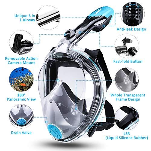 Zoom IMG-2 camtoa maschera da snorkeling subacquea