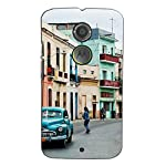 """This durable, stylish """"a vintage street view with a car"""" 3D Designer case keeps your Motorola Moto X2 :: Motorola Moto X (2nd Gen) safe and protected. This """"a vintage street view with a car"""" 3D Designer case's total body is made up of Plastic Case Wi..."""