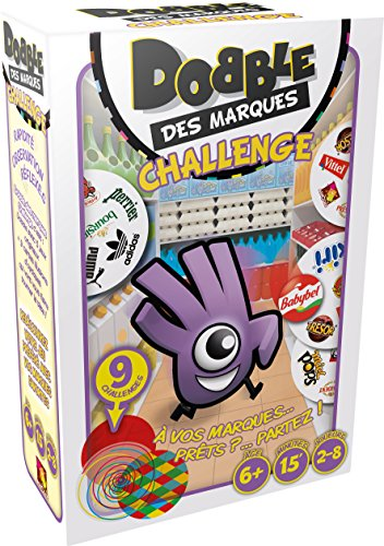 Asmodee DOBMAQ02 - Juego Dobble Des Marques Challenge