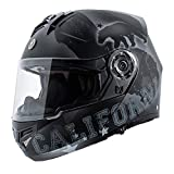 TORC T27 Full Face Modular Motorcycle Helmet with Graphic and Flip-Down Sun-Shield (Republic)