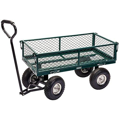 DRAPER Stahlgeflecht-Gartenwagen,–grün