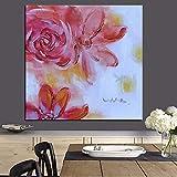 tzxdbh HD Print Aquarell Minimalistischen Roten Künstler Abstrakte Blume Ölgemälde auf Leinwand Wandbild für Wohnzimmer Sofa Cuadros Decor-in Ungerahmt 30x30 cm