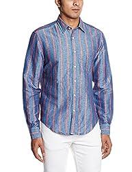 Gant Mens Casual Shirt (8907163391599_GMSZ0001_Large_Blue)