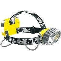 Petzl E72P Duo híbrido, resistente al agua faros, halógeno/14LED con 3modos de iluminación constante, amarillo