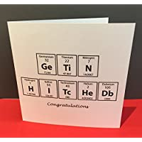Engagement Card - Wedding Card - Card for a Chemist Scientist - Paper Handmade Greeting Card - Science Geek - Periodic Table