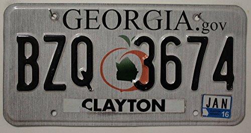 USA Nummernschild GEORGIA gov ~ US Kennzeichen Pfirsich Motiv ~ Blechschild