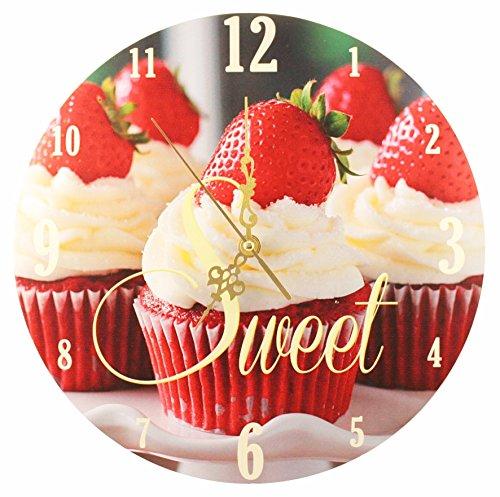 """Wanduhr – """"Süße Erdbeer-Cupcakes"""""""