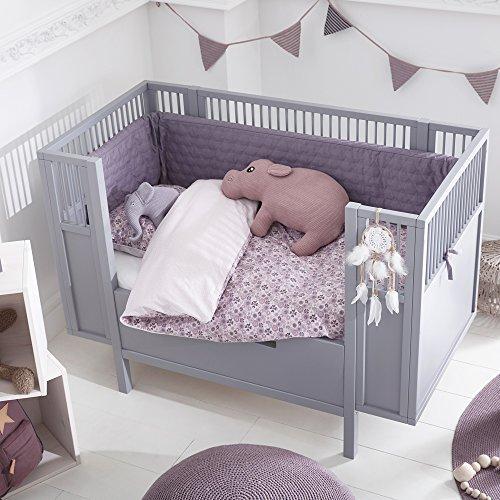 ᐅᐅ】🥇LIFETIME Babybett Kinderbett Holz grau umbaubar zum ...