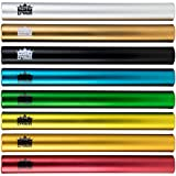 Standard Junior-Size Aluminum Track & Field Relay Batons-Set Of 8 Assorted Colors By Crown Sporting Goods