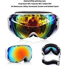 AUDEW Gafas Esquí Ski Gafas Goggle Lente Doble Snowboard de Sol Professional Anti - Fog UV