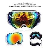 Audew Maschere Sci Snowboard Occhiali Ski Snowboard Goggle Moto...