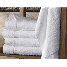 5 toallas de baño 70x140 cm 500gr / m² algodón egipcio del hotel White (70
