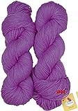 #3: Vardhman Brilon Purple (200 gm) Wool Ball Hand knitting wool / Art Craft soft fingering crochet hook yarn, needle knitting yarn thread dyed