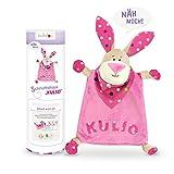kullaloo - Material-Set / Stoffpaket zum Selber nähen: Schnuffeltuch Hase Kulio inkl. Schnittmuster in rosa/pink-beige in schicker Dose