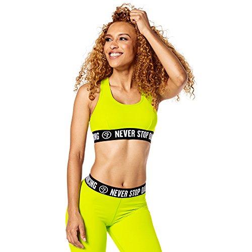 Zumba Fitness Damen Never Stop Dancing Scoop Bra Zumba Green