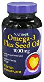 Natrol, Omega-3 Leinöl - 1000mg x90softgels