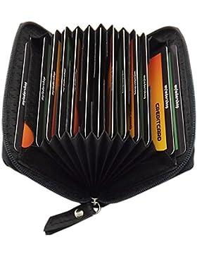 Cuero tarjetero para tarjeta de crédito y tarjeta de visita 13 bolsillos en varios colores