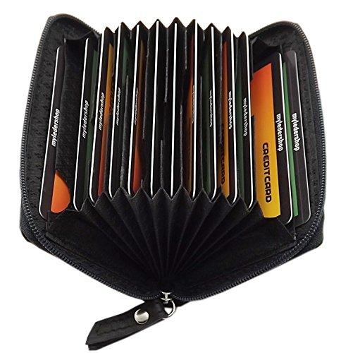 Cuero tarjetero para tarjeta de crédito y tarjeta de visita  * 13 compartimentos para tarjeta de crédito y tarjeta de visita etc.* Este tarjetero para tarjeta de crédito ha sido probado por TÜV Saarland. El 100% de protección de blindaje el rango de ...