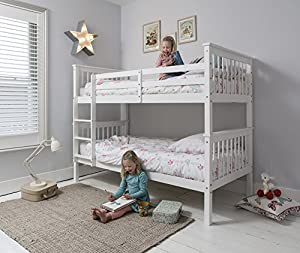 Anders Bunk Bed in White Splits into 2 Singles Noa & Nani