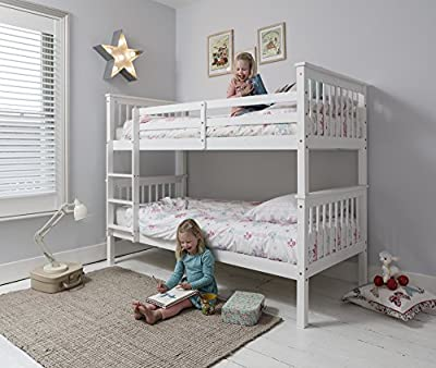 Anders Bunk Bed in White Splits into 2 Singles