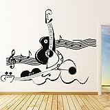 Résumé violon et guitare Wall Sticker Sticker Art Musique Disponible en 5 tailles et 25 couleurs
