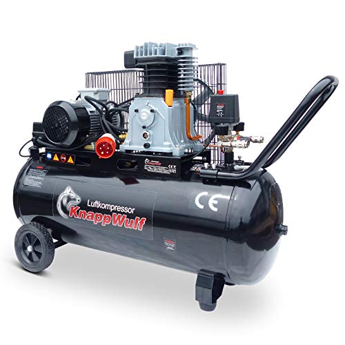 KnappWulf Kompressor Druckluftkompressor 100L Kessel Riemenantrieb 400V mit 320L Liefermenge