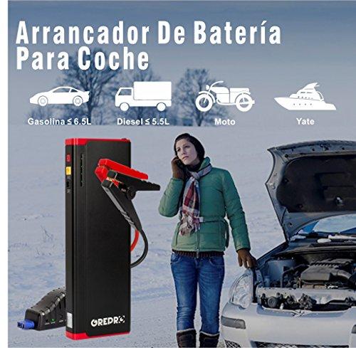 51RGoRufVlL - Arrancador de Coches 1500A 21000mAh Jump Starter Diesel para Vehículos de 12V(Coches hasta 8.0L Gas 6.5L Diesel),Cargadores de Batería Externo para Coche con 2 Pin Europe Adaptador