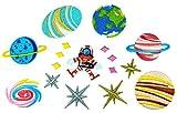 i-Patch - Patches - 0072 - Sticker - Badges - Astronaut - Stickerei - Applikation - Aufnäher - Planet - Raumschiff - Raumfahrt - Aufnäher Patches - Aufbügler - Flicken - Patches zum aufbügeln - Applikation zum aufbügeln