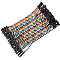 Plat Firm 40pcs 10cm hembra a cable de puente dupont hembra para Arduino