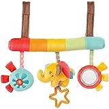 TOYMYTOY Infant Baby Plush Adorable animal Rattle Stroller asiento de coche colgante juguete Pram Crib regalo de juguete móvil (patrón de elefante)
