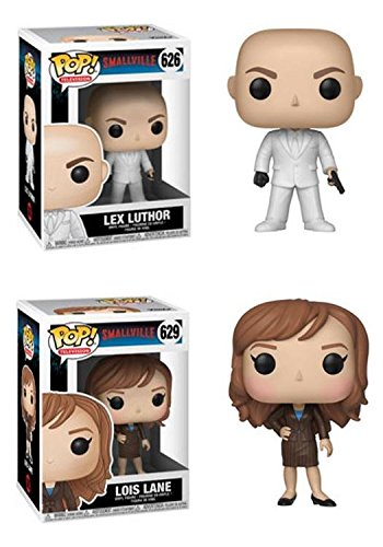 FunkoPOP Smallville Lex Luthor Lois Lane Stylized TV Vinyl Figure Bundle Set NEW