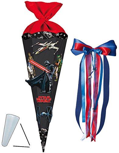 alles-meine.de GmbH BASTELSET Schultüte -  Star Wars / Darth Vader  - 85 cm - incl. großer Schleife - mit / ohne Kunststoff Spitze - Zuckertüte - incl. Rohling - Bastelschultüt..
