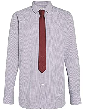 next Hombre Conjunto De Corbata Y Camisa Cuadros