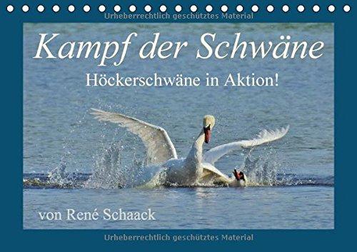 Kampf der Schwäne. Höckerschwäne in Aktion! (Tischkalender 2018 DIN A5 quer): Dynamik und Aktion im Reich der Schwäne! (Monatskalender, 14 Seiten ) (CALVENDO Tiere)