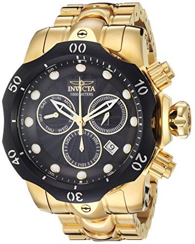 INVICTA Venom Herren-Armbanduhr Armband Edelstahl Gold Schweizer Quarz 23892 (Invicta Männer Venom Uhren Für)