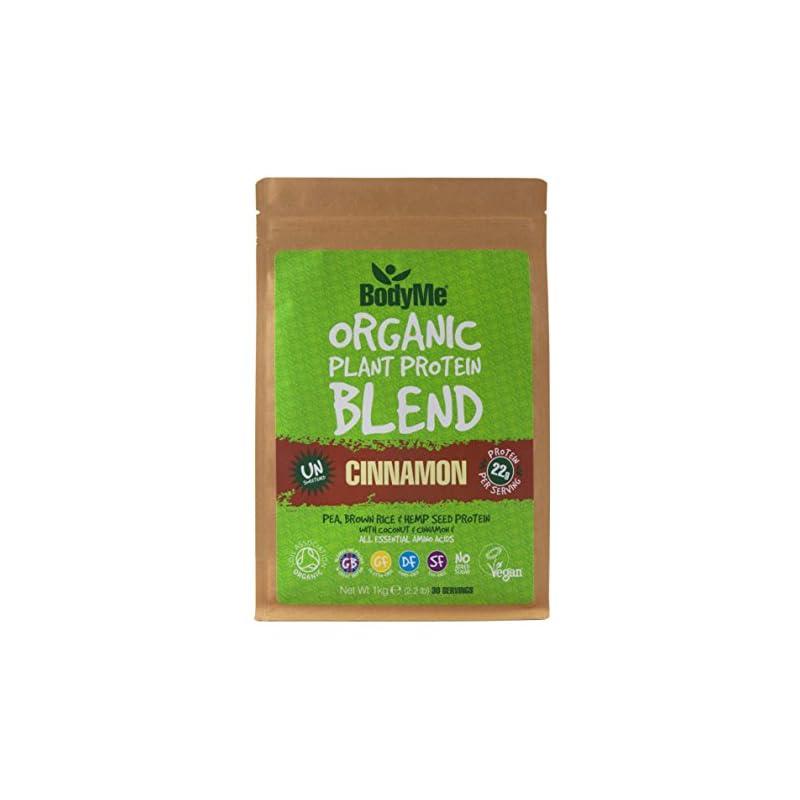 BodyMe Organic Vegan Protein Powder Blend | Maca Cinnamon | 1kg | UNSWEETENED | Low Carb | with 3 Plant Based Vegan…