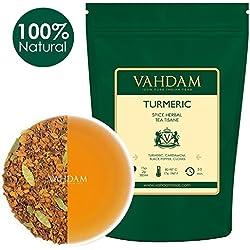 Kurkuma-Gewürz-Chai-Tee (100 Tassen) Indiens alte Medizin-Mischung von Kurkuma & Gartenfrischen Gewürzen, REICH AN ANTIOXIDANTIEN & Phyto-Nährstoffen, Kurkuma-Tee, verpackt in Indien 200g