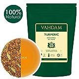 Té de cúrcuma, envasado en la India,100g(set de 2) té de cúrcuma (100 tazas) La medicina antigua de la India Mezcla de cúrcuma y jardín Especias frescas,ABUNDANTE EN ANTI- OXIDANTES Y PHYTO-NUTRIENTES