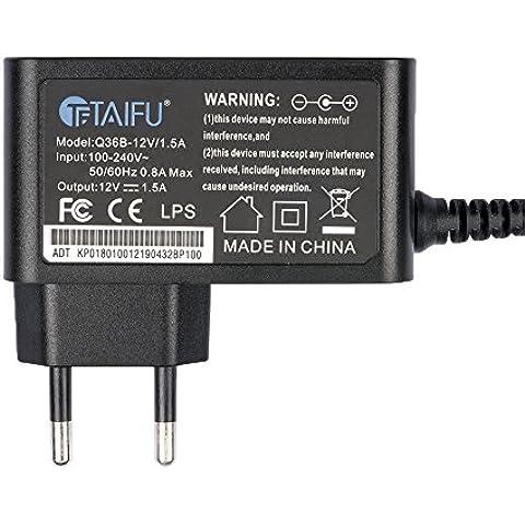 TAIFU Adaptador de CA para JBL FLIP IC: 6132A-FLIP JBL portátil Cable de alimentación del altavoz inalámbrico, JBL Flip Portable Wireless Loudspeaker S18, 12V 2A con 4,0 *1,7mm conector