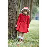 Mothercare Baby-Mädchen Mantel Wool Swing Coat Red, Rot, 3-4 Jahre