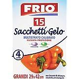 Frio–Sacs froid, grandes 29x 42cm, avec étiquette préimprimée et lacets de fermeture–15pièces–[Lot de 8]
