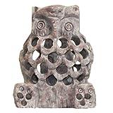 Speckstein Eule 9cm Specksteinfigur Dekoration Skulptur