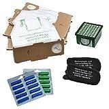 vorteils Set 18Sacchetti Sacchetti + 2Filtro odori + 2Filtro Igiene + 20Profumatori adatto per i vostri VORWERK FOLLETTO VK 130/131e 131SC