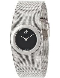 Calvin Klein–Reloj de pulsera analógico para mujer cuarzo acero inoxidable K3T23121