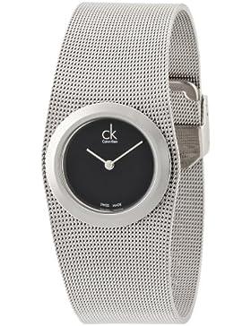 Calvin Klein Damen-Armbanduhr Analog Quarz Edelstahl K3T23121