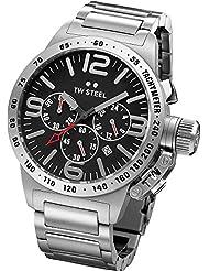 TW Steel Unisex-Armbanduhr Canteen Bracelet Chronograph edelstahl grau TW301