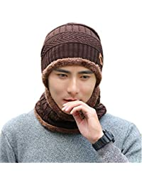 Urban Virgin 2-Pieces Winter Beanie Hat Scarf Set Warm Knit Hat Thick Knit  Skull 8ebead6df8a1
